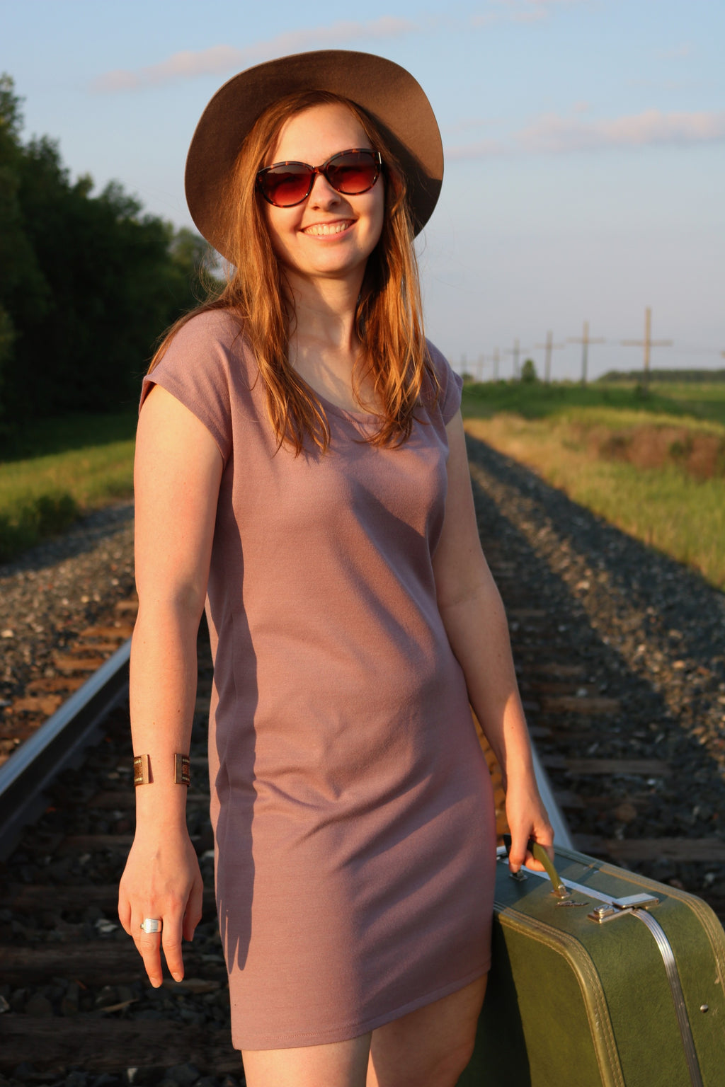 Blush Pink T-shirt Tunic Dress