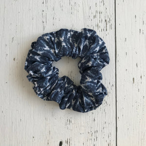 denim blue cotton print Scrunchie