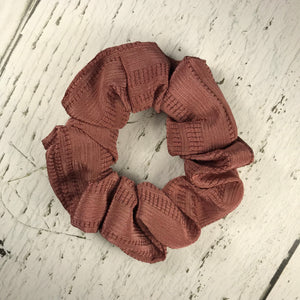 Rose Pink Textured Scrunchie