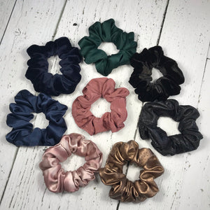 Light pink heavy satin Scrunchie