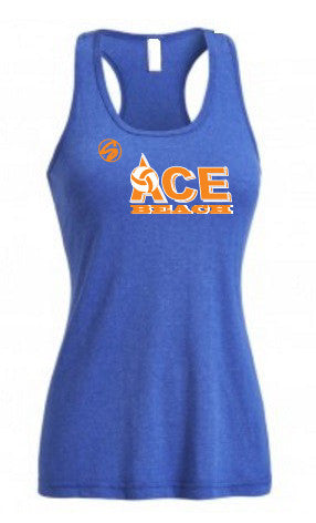 Ace Heather Racerback Tank - Royal