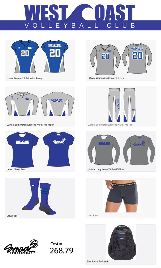 WestCoast Uniform Package