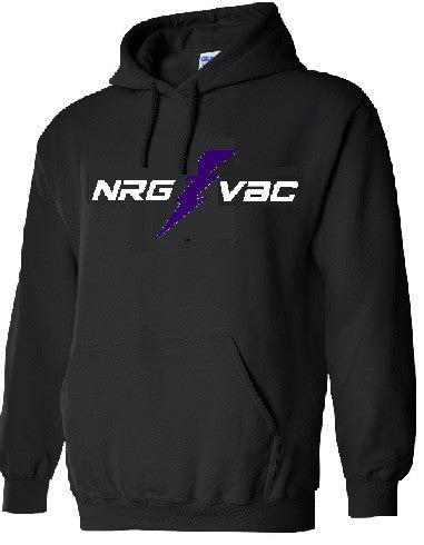 Midweight Hooded Sweatshirt with NRG logo-Black