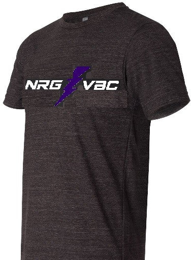 Triblend Charcoal Tee with NRG logo