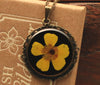 Buttercup Black Vintage Resin Pendant