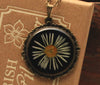 Daisy Black Vintage Resin Pendant