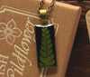 Fern Black Rectangle Pendant