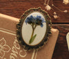 Forget me Not White Resin Brooch