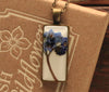 Forget me Not White Rectangle Pendant