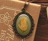 Gorse Ornate Olive Green Pendant