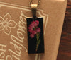 Heather Black Rectangle Pendant