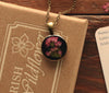 Heather Black Dainty Pendant