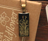 Lichen Black Rectangle Pendant