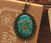 Queen Anne's Lace Turquoise Ornate Pendant