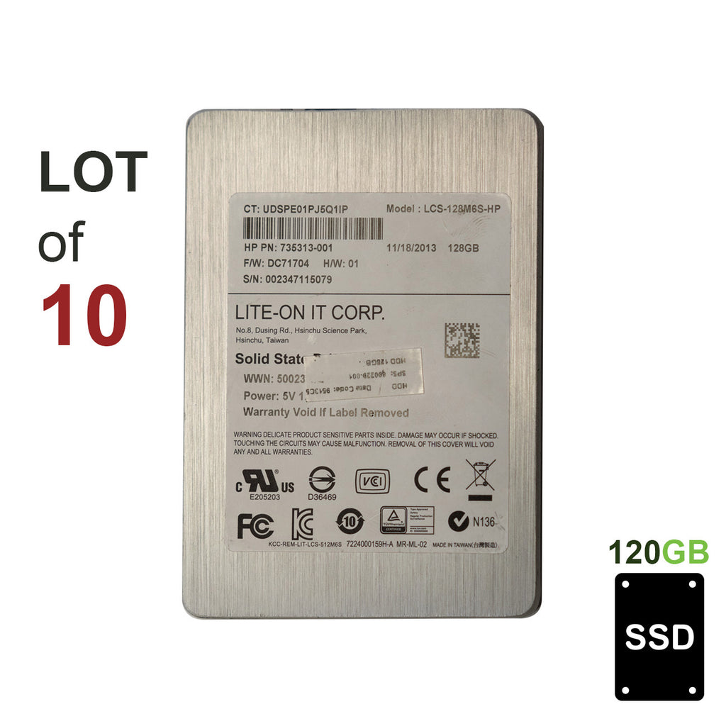 "2.5"" 120GB SSD SATA II Hard Drive 400/300 MB/s Read/Write - LOT OF 10"