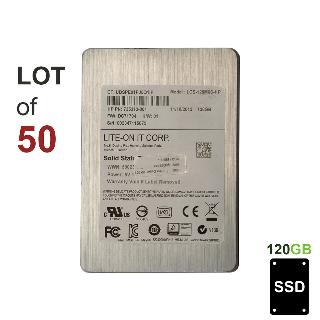 "2.5"" 120GB SSD SATA II Hard Drive 400/300 MB/s Read/Write - LOT OF 50"