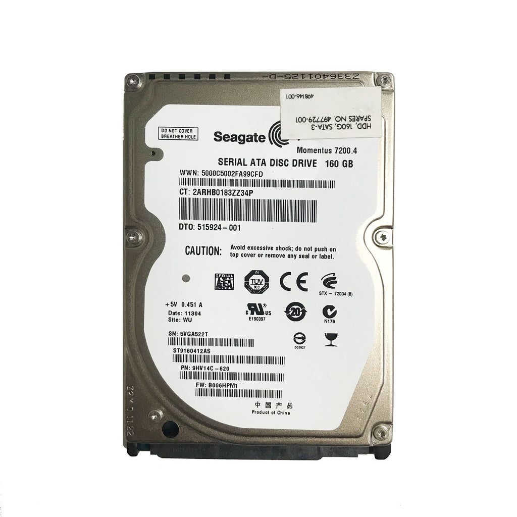 "2.5"" 160GB SATA II Hard Drive 7200RPM"