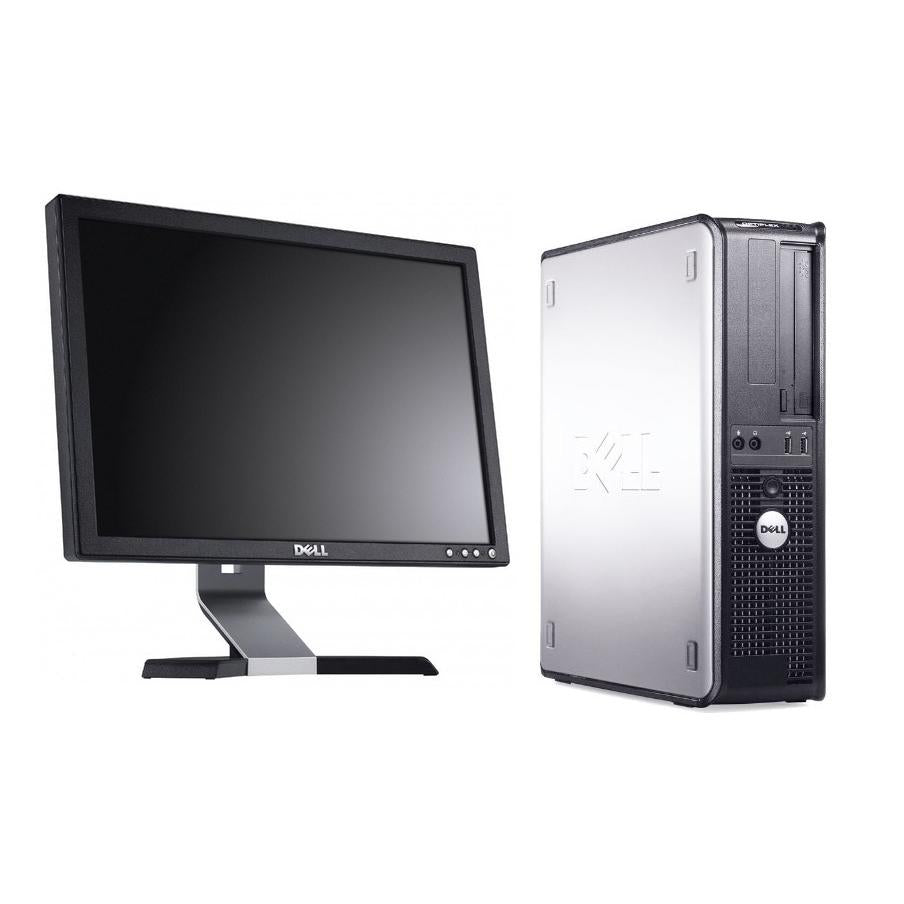 "Dell GX990 SFF Intel i5-2400 3.0GHz 8GB 500GB 19"" LCD Bundle Win 10 Home(Refurbished)"