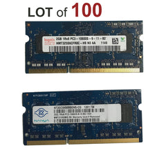 2GB Laptop RAM SODIMM DDR3 Memory PC3-10600s - 100 Pieces