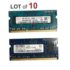 2GB Laptop RAM SODIMM DDR3 Memory PC3-12800s - 10 Pieces