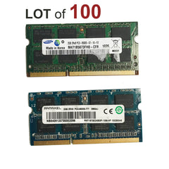 2GB Laptop RAM SODIMM DDR3 Memory PC3-8500s - 100 Pieces