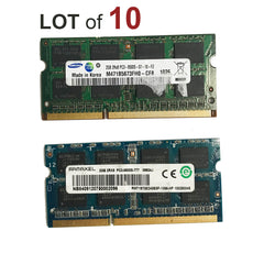 2GB Laptop RAM SODIMM DDR3 Memory PC3-8500s - 10 Pieces