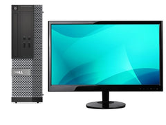 "DELL 3020 SFF i5-4570 3.2 8GB 256SSD NO OPT W10P 22"" LCD- COMBO (Refurbished)"