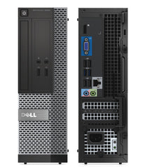 Dell Optiplex 3020 SFF Core i3-4130 3.4GHz 8GB 120GB SSD DVD Wi-Fi Win 10 Home (Refurbished)