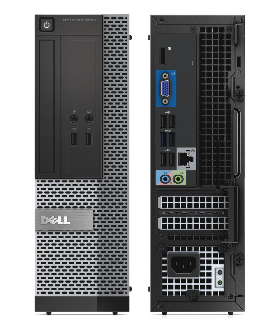Dell Optiplex 3020 SFF Core i5-4570 3.2GHz 8GB 240GB SSD DVD Wi-Fi Win 10 Pro (Refurbished)
