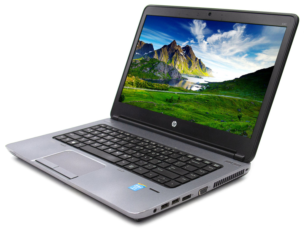 "HP Probook 640 G1 Intel i5 4210M 2.6Ghz 8GB 120GB SSD 14"" Windows 10 Pro (Refurbished)"