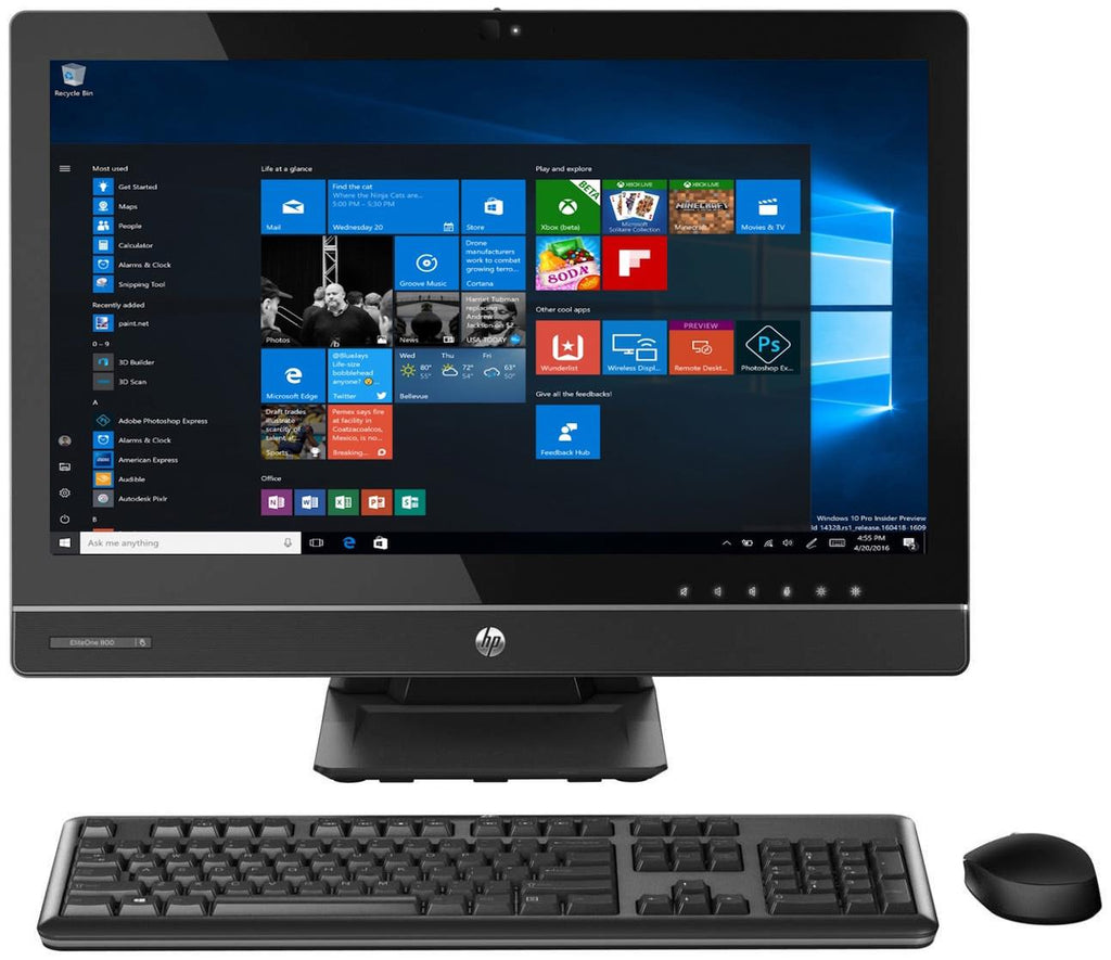 "HP EliteOne 800 G1 Touch AIO Intel i5-4570 8GB 256GB SSD 23"" WiFi Win10 Pro (Refurbished)"