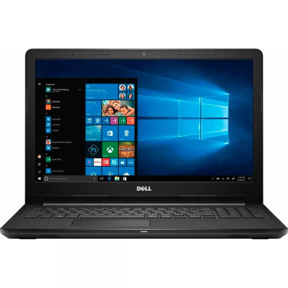 "Dell Inspiron 15 15.6"" Screen, Intel Core i3-7100U 2.4GHz 8GB 128GB SSD Windows 10 Pro (Refurbished)"