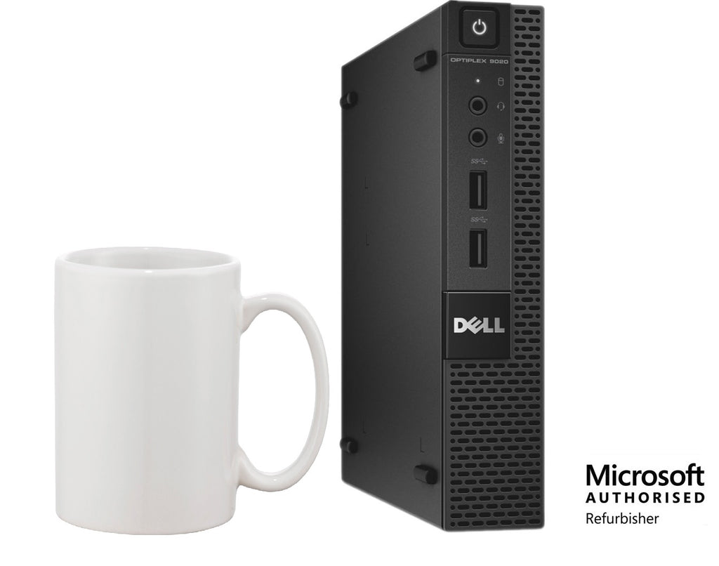 Dell Optiplex 9020 Micro Desktop Core i3-4160T 8GB 128GBSSD Wi-Fi Win 10 Pro (Refurbished)