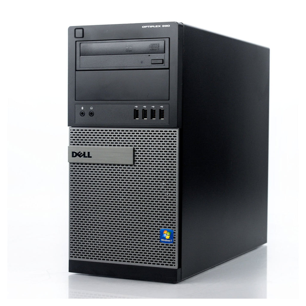 Dell GX990 TWR, intel i3 - 3.1GHz, 8GB, 2TB, Windows 10 Home, WiFi