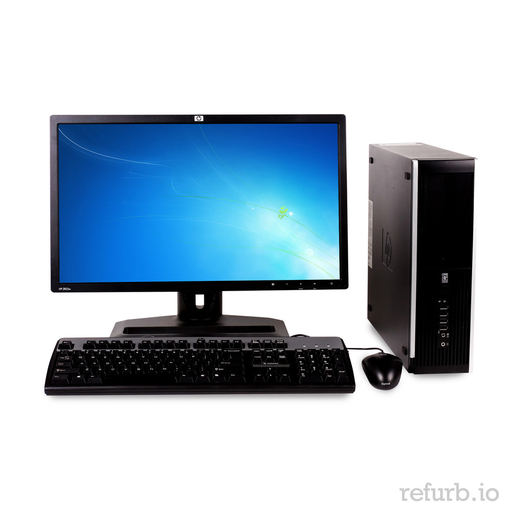 "HP 8000 Elite SFF Combo Core 2 Duo E8400 3.0ghz, 4GB Ram, 1TB HDD, 22"" LCD, Win 10 Pro"