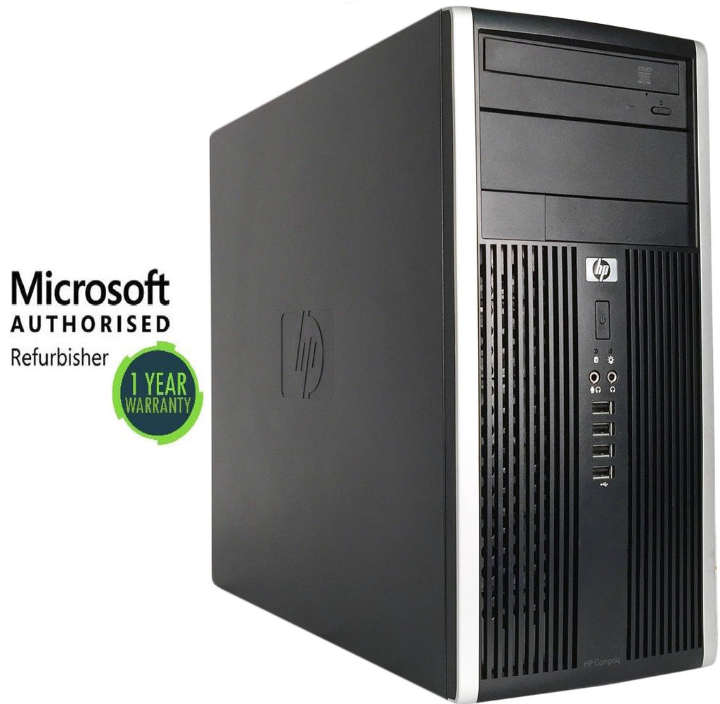 HP 6200 Tower Core i7-2600 12GB, 2TB HDD, Win 10 P DVD RW (Refurbished)