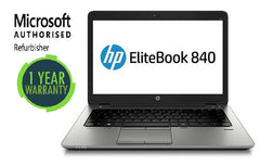 HP Elitebook 840 G1 Intel Core i7-4600u 2.10GHz 8GB DDR3 Ram 500GB HDD Windows 10 Pro (Refurbished)