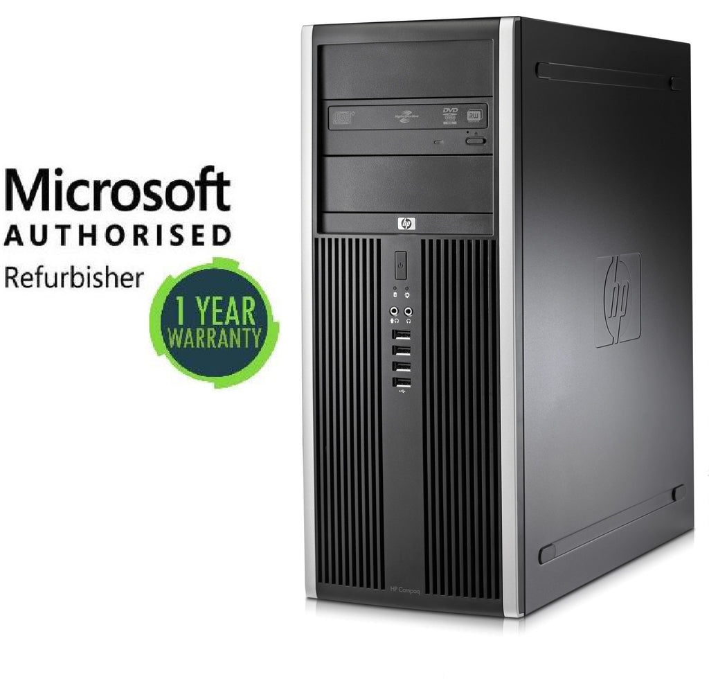 HP Compaq Elite 8000 Tower Intel Core 2 Duo 3.0GHz 4GB Ram 500GB HDD Windows 10 Home  (Refurbished)