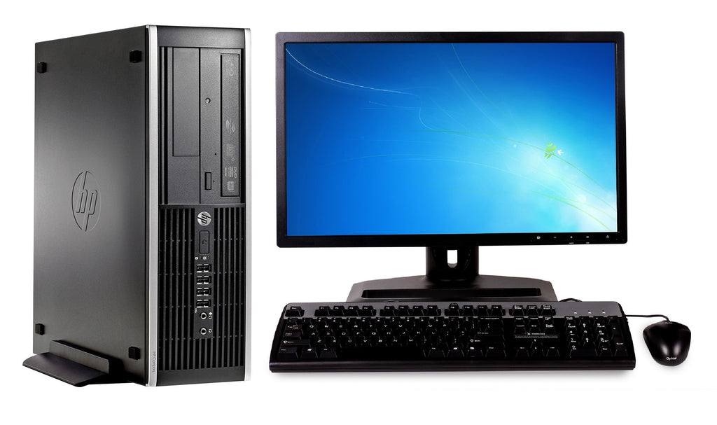 "HP 8200 Elite SFF Combo i5 2400 3.1GHz 8GB Ram 250GB HDD 19"" LCD Monitor Win 10 Home (Refurbished)"
