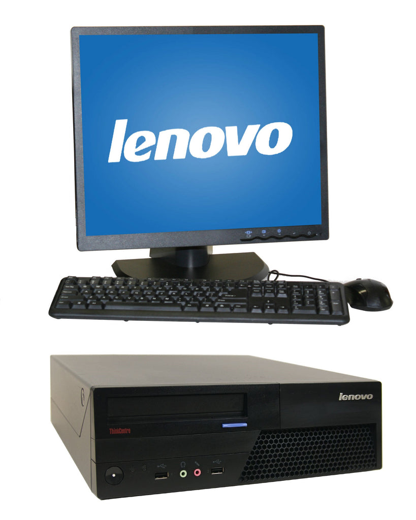 "Lenovo M58 SFF C2D (3.0Ghz) 4GB 160GB DVD WINDOWS 10 HOME 19""LCD WIFI"