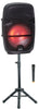 "QFX PBX-811SM 8"" PORTABLE PARTY SPEAKER WIRELESS MICROPHONE & STAND"