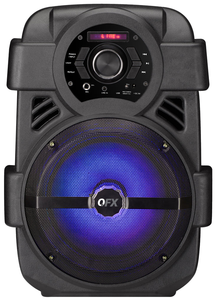 "QFX PBX-8 8"" RECHARGEABLE PARTY SPEAKER"