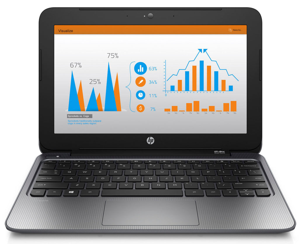 "HP Stream 11 Pro 11.6"" Netbook Intel Celeron N2840-2.16GHz 2GB RAM 32GB SSD Windows 10 Pro (Refurbished)"