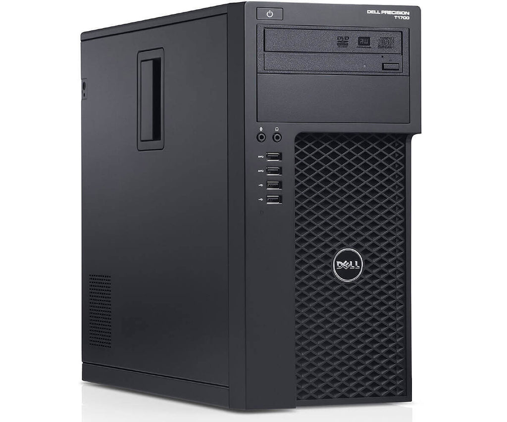 Dell Precision T1700 Tower Intel Core i5(4570) Quad-Core 3.2GHz 16GB 2TB DVD Win 10 Pro USB WiFi (Refurbished)
