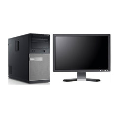 "Dell Optiplex GX390 Tower i3-2100 3.1GHz 4GB 500GB DVD Windows 10 Home + 22"" LCD (Refurbished)"