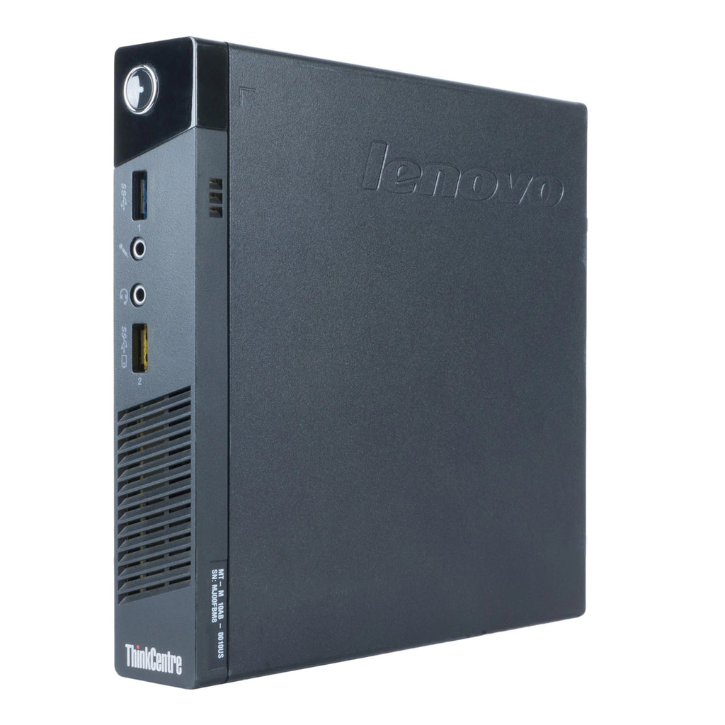 Lenovo M93 Tiny Core i3-4160T 3.1GHz 16GB RAM 256GB SSD Win10 P (Refurbished)