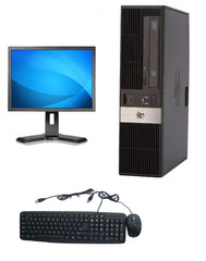 HP 19'' DESKTOP RP5800-SFF Core i3-2100 3.1GHz 4GB RAM 250GB HDD DVD-RW Windows 10 Home COMBO
