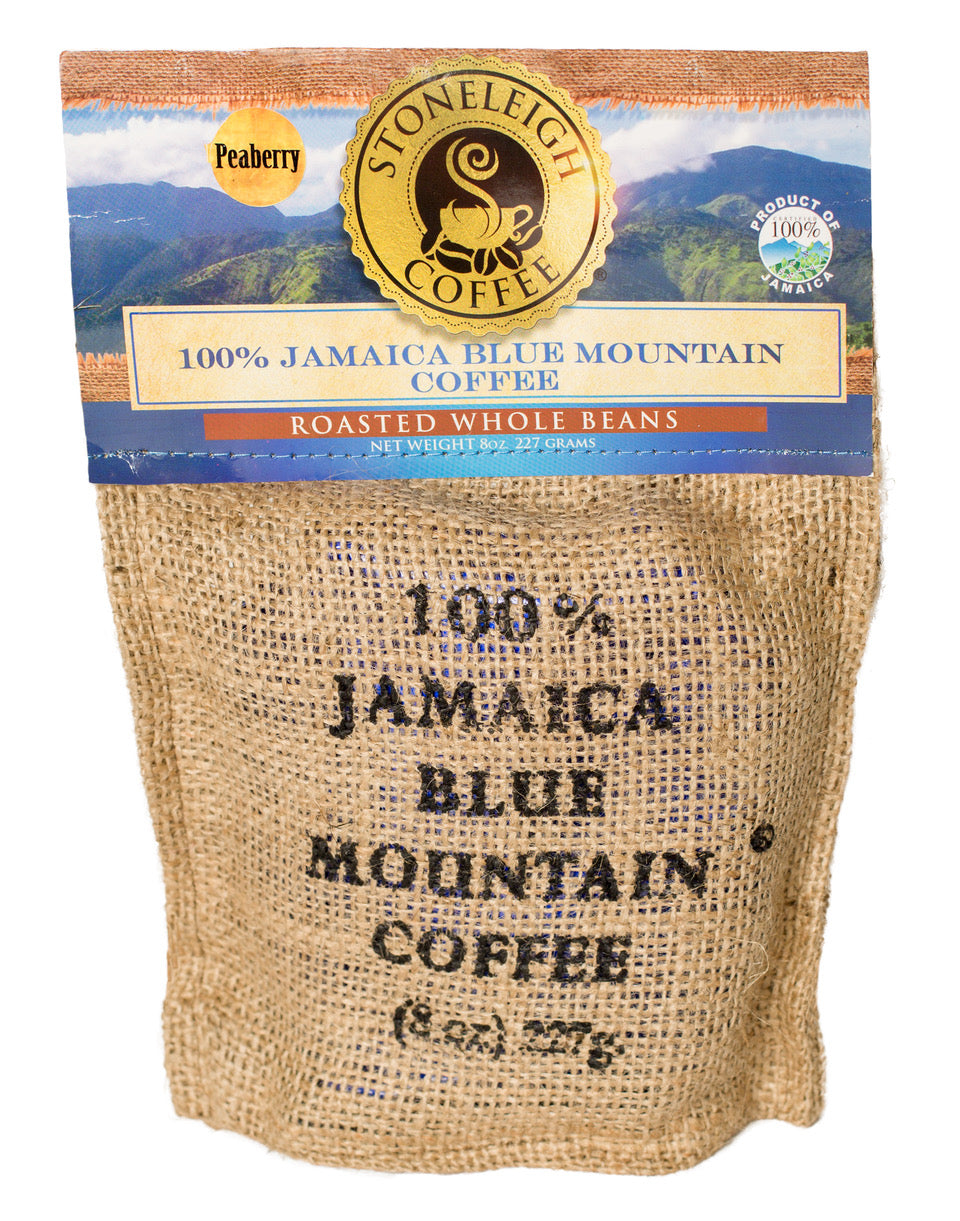 STONELEIGH 100% Jamaica Blue Mountain® Coffee - Peaberry Roasted Whole Beans