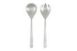 Oslo Salad Servers in Matte Stainless Steel