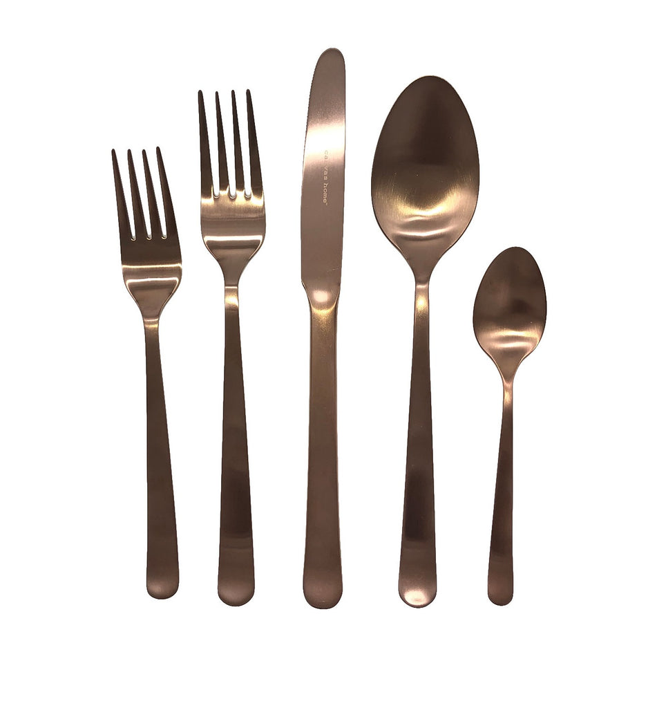 Oslo Cutlery in Matte Gold Finish